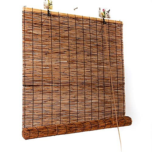 HXSM Estores De Bambú Exterior Persiana Enrollable Natural 150x200cm Cortina De Caña Opaca 180x250cm Persianas De Caña para Terraza Ventana
