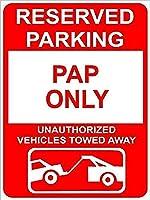 装飾ポスターサインPap予約済み駐車場のみ、錫の壁サイン警告サインメタルプラークポスター鉄絵画アート装飾バーホテルオフィス寝室ガーデン
