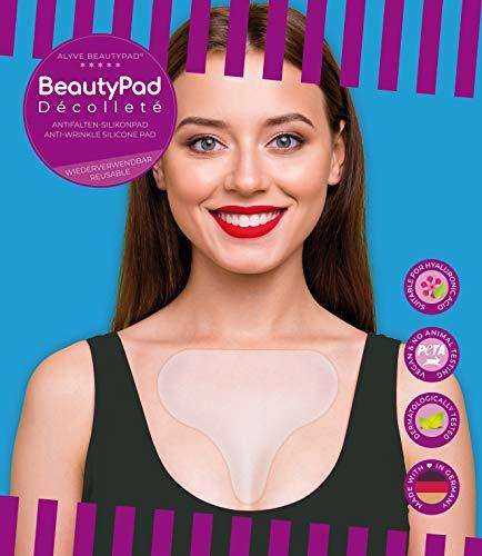 Alyve BeautyPad® Dekolleté Anti Falten Silikon Pad | gegen Dekoltee- und Schlaffalten | wirkt schnell, hautfreundlich, wieder verwendbar