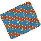 SD3DPrint Kongo Kinshasa Flagge, Decke, leichte Polyester-Überwurf, Decken für Bett, Couch, Sofa, Reisen, Camping, 127 x 152 cm