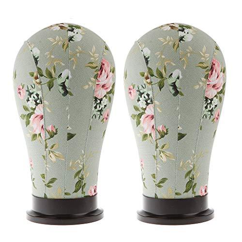 2pcs Modellkopf Schaufensterpuppe Kopf Mannequin Kopf, Perücke/Hut/Gläser/Brille Halter Ständer, perfekt für Zuhause Geschäft oder Salon - Gardenie