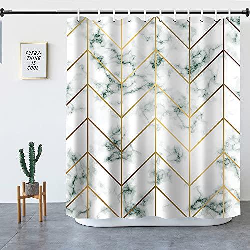 Duschvorhang, Kuchisity 180 x 180 cm Anti-Schimmel Duschvorhänge Wasserdichter Polyester Shower Curtains, Waschbar Anti-Bakteriell Badezimmer Vorhang mit 12 Duschvorhangringen
