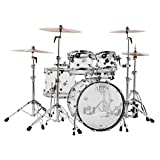 DW Design Series Acrylic 5-Piece Shell Pack with Chrome Hardware Clear
