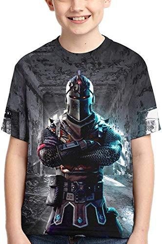 XCNGG Niños Tops Camisetas Youth T-Shirts 3D Print Boys and Girls Fashion T Shirts Short Sleeve