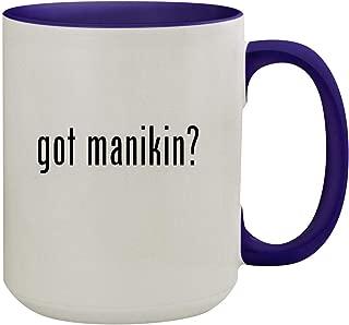 got manikin? - 15oz Ceramic Inner & Handle Colored Coffee Mug, Deep Purple