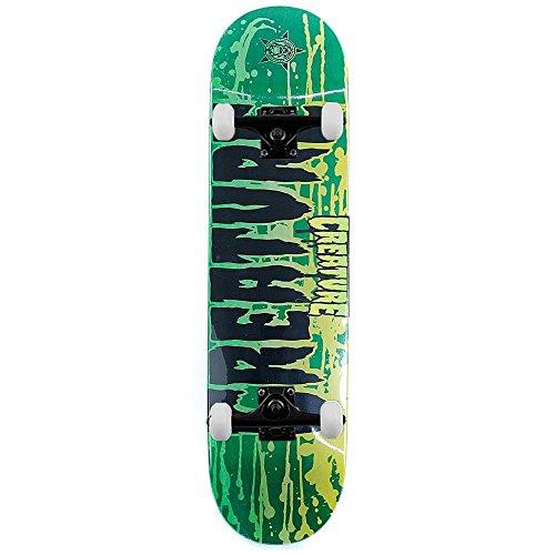 Creature Skateboard Retro macchia verde Skateboard completo 8'
