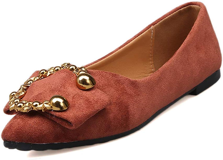 Bon Soir Women's Flat shoes Comfortable Slip On Pointed Toe Ballet Flats