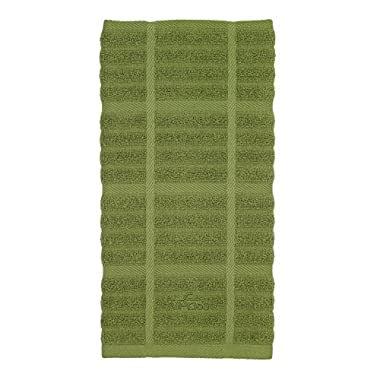 All-Clad Textiles 100-Percent Combed Terry Loop Cotton Kitchen Towel, Oversized, Highly Absorbent and Anti-Microbial, 17-inch by 30-inch, Solid, Sage Green