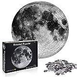 Puzzle Redondo 1000 Piezas,Puzzle Difícil y desafiante, Grande Educativo El Alivio del Estrés Juguete Relajante Juego Divertido para Adultos Niños (Luna)