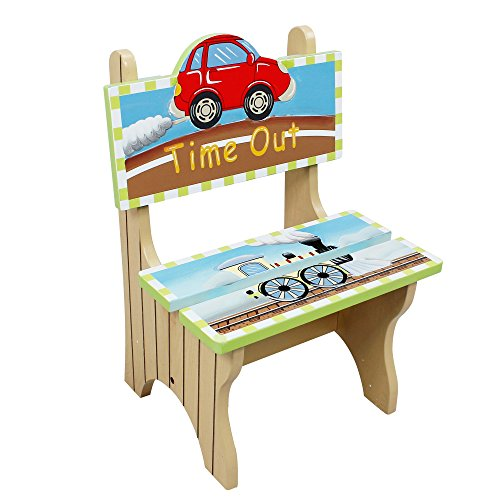 Fantasy Fields by Teamson Transportation Childrens Wooden Naughty Time Out Chair Kids Seat 9942A