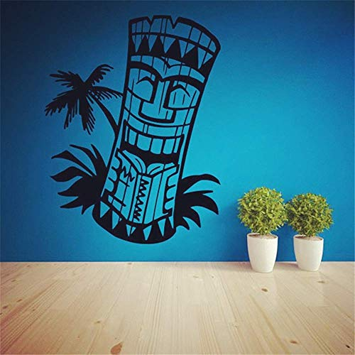 Wandaufkleber, selbstklebend, Vinyl, Deko, Quote Art, Tiki, Bar, Logo, Dekoration, Living Room Home Decor Kunst Sticker, Totem Island Hawaii
