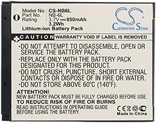 Batería Compatible con Canon Digital IXUS 200 IS 210 95 105 300HS 310 HS 85 3.7V 850mAh