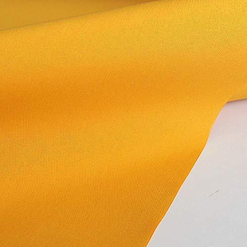 TOLKO Sonnenschutz Markisen-Stoffe als Meterware für Terrassen-Überdachung und Beschattung | mit UV-Schutz 60+ | Wasserdicht, Extra Langlebig - Ohne Ausbleichen - 120cm breit (Gelb-Orange)