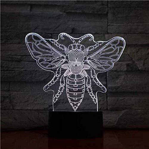 3D LED nachtlampje dierenbijen touch sensor 7 kleuren verandering apis decoratieve lamp kinderen baby kit nachtlicht honing bijlamp