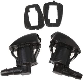 X AUTOHAUX 2 boquillas de Chorro de Limpieza para Parabrisas Delantero ABS Color Negro