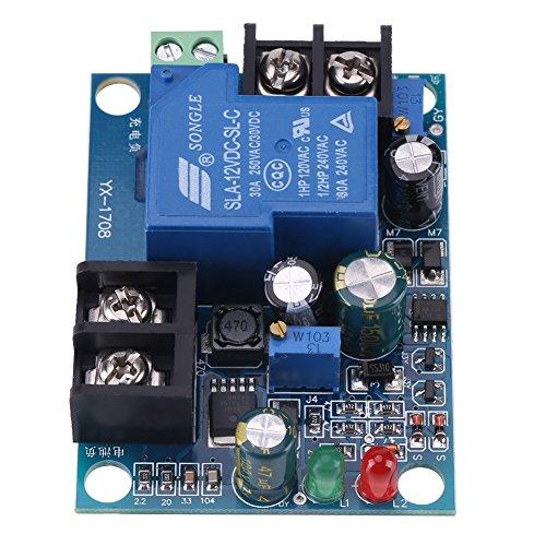 Akozon Scheda di protezione di ricarica Modulo del Controller di Carica della Batteria Modulo di Protezione del Controller di Ricarica del Caricabatterie Automatico(12V)