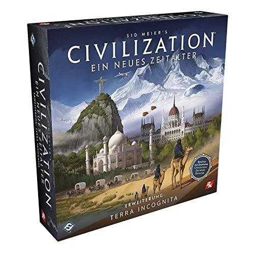 Civilization FFGD0174 Asmodee neues Zeitalter-Terra Incognita-Erweiterung, Strategiespiel, Brettspiel, Deutsch