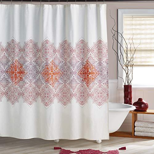 Bedeck 1951 Veneto Shower Curtain, 72W x 72L, Crimson