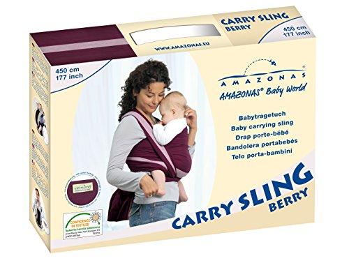 AMAZONAS Babytragetuch Carry Sling Lollipop 510 cm 0-3 Jahre bis 15 kg buntgestreift - 7