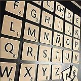 Letras tipo juego Scrabble personalizadas de madera para decoración pared o habitación infantil