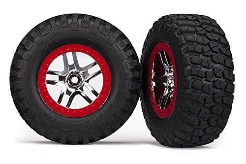 BFGoodrich Mud Terrain T/A KM2 Tires pre-glued to SCT Split-Spoke Chrome Wheels