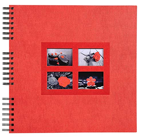 Exacompta 16845E Passion Album Photos à Spirales - 60 Pages - Rouge - 35 x 33 x 3,3 cm