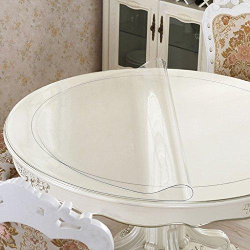 Nappes Nappe, imperméable en cristal Plaque Table basse Tissu en PVC Transparent 1.5MM ( taille : Round- 90cm )