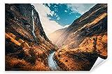 Postereck 3528 - Poster & Leinwand, Fluss Landschaft Nepal