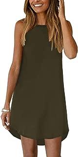 YOINS Dresses for Women Casual Summer Sleevesless Bohemian Floral Print Beach Mini Dress