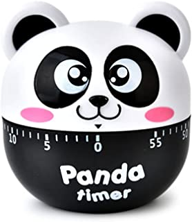 Mini Size Cartoon Panda Machinery Timer 60 Minutes Mechanical Kitchen Cooking Timers Clock Loud Alarm Counters Manual Time...