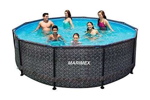 Marimex Florida Ratan Swimmingpool, Stahlwandpool für Garten ohne Zubehör, 3,66 x 0,99 m