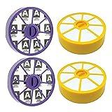 Componentes Filtro de motor prefabricado lavable y alergia al motor poste HEPA Kit de filtro apto para Dyson DC19 DC20 DC29 Aspiradoras (2 de cada una) Piezas de aspiradora ( Color : Yellow and blue )