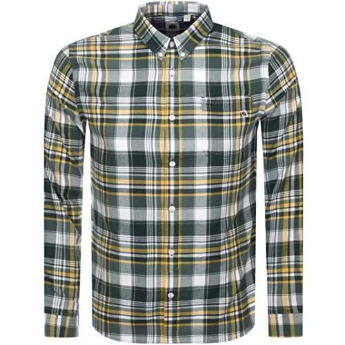 Pretty Green Slim Fit camicia da uomo LS verde Verde XXL