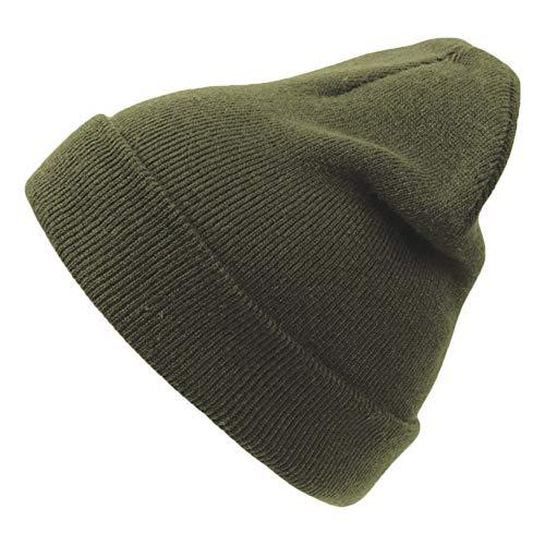 noTrash2003 Doppelstrickmütze mit Umschlag - warme Wintermütze für Damen und Herren in vielen Farben