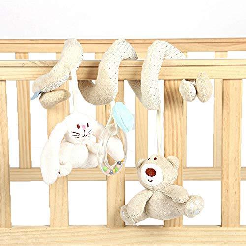Juguete de envoltura en espiral de actividad para bebés, envoltura en espiral de conejo de oso infantil alrededor de la cama de la cuna