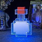 MOOK Pixels Potion Bottle Light Color-Changing LED Lamp 7 Inch Night Light for Kid's Bedroom Living Room Gaming Room Study Room