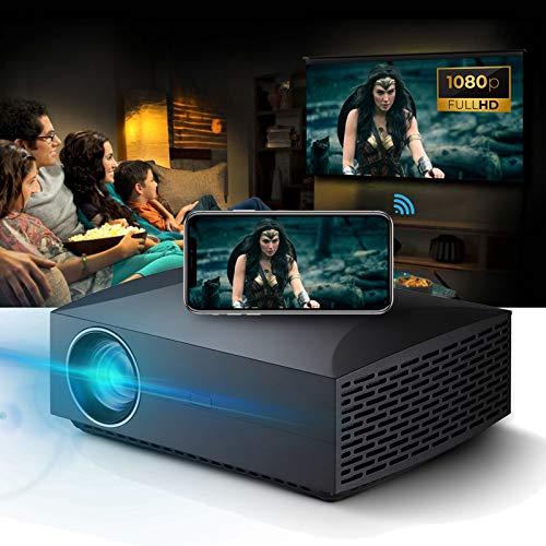 Pateacd WiFi-Projektor, 300'-Display 6500Lm Native 1920X1080p Full HD 15000: 1...