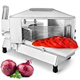 Happybuy Commercial Tomato Slicer 3/16' Heavy Duty Cutter with Built-in Cutting Board for Restaurant or Home Use