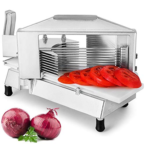 """Happybuy Commercial Tomato Slicer 1/4"""" Heavy Duty Tomato Slicer Tomato Cutter with Built in Cutting Board for Restaurant or Home Use"""