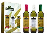 OLEOESTEPA - Estuche HOJAS BIO - Aceite de Oliva Virgen Extra Oleoestepa - 3 Botellas de 500 ml