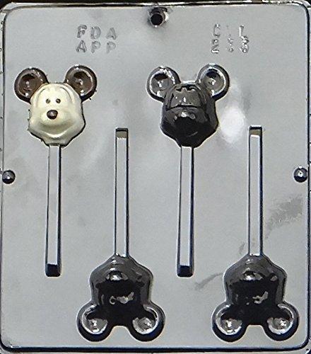 Cartoon Mickey Mouse Head Lollipop Chocolate Candy Mold 233