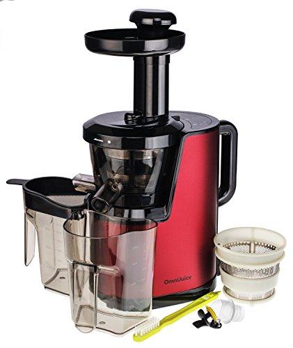 OmniJuice Slow Juicer Spremiagrumi/Centrifuga con solo 43giri/min (massima resa in succo, mantiene le vitamine) OmniJuice Rot Rot