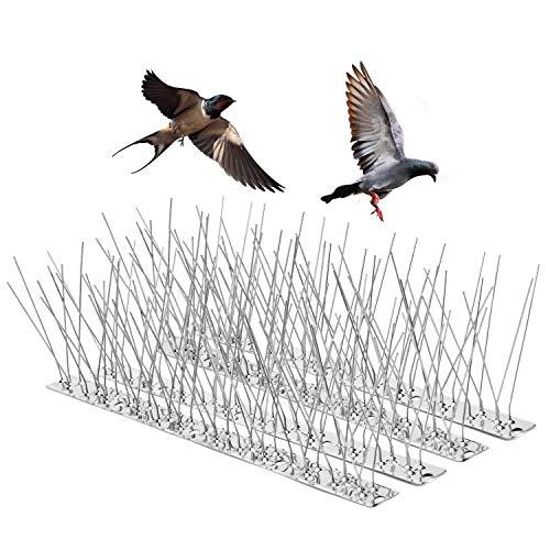 One Sight Antipalomas, 14 Paquete/4.6 Metro Púas de Pájaro para Palomas, Cubre Picos de Acero Inoxidable para disuasión de Aves, Gaviotas, disuasión de Gatos