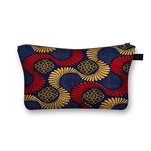 OMYLFQ Sac à cosmétiques, Femme Africaine Print Sac de cosmétique Afro Mesdames Sacs de Maquillage cosmétique Organiseur Artiste Portable Sac de Rangement (Color : 15)