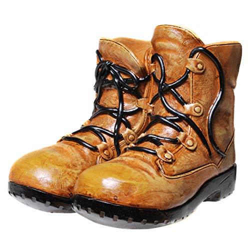 Topshop24you Preciosa hucha grande con diseño de botas de senderismo, con cierre de rosca.