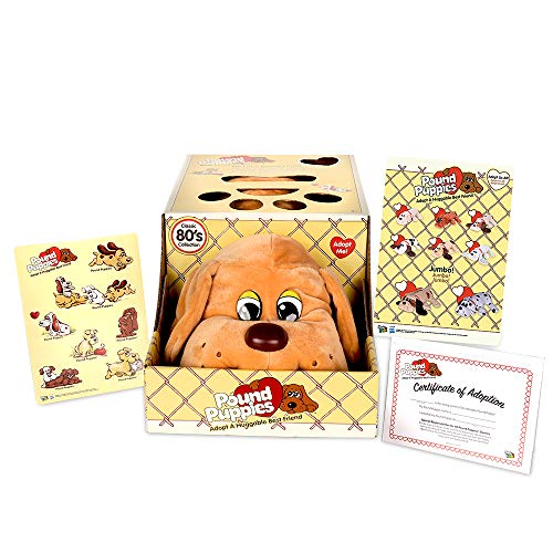 Basic Fun Pound Puppies Classic Stuffed Animal Plush Toy - Great Gift for Girls & Boys - 17' - Beige