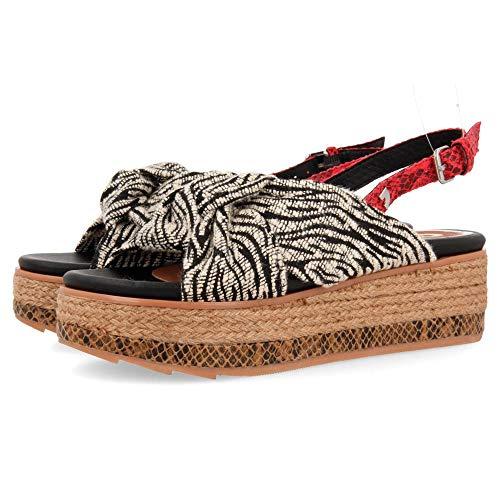 Gioseppo NEVELE, Zapatos con Plataforma para Mujer, Negro (Negro Negro), 37 EU