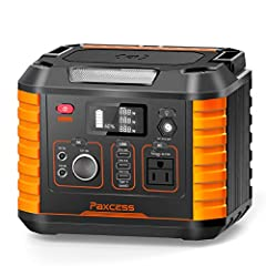 【Large Capacity Portable Power Station】Comparing to similar portable electric generators, PAXCESS portable generator possesses 78000mAh/288.6Wh power capacity, which means it can efficiently power up the same electronic devices more longer than other...