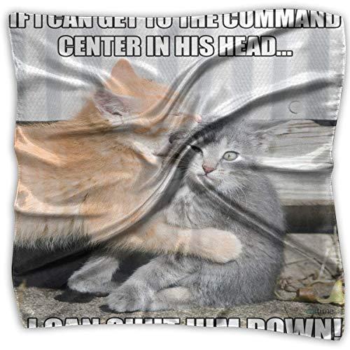 Quadratischer Schal Cat Memes Stirnband Unisex Taschentuch Krawatte für Mann