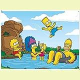 DFCYT Puzzle Puzzle de 1000 Piezas para niños, Rompecabezas de Los Simpson, Juguetes educativos difíciles para Adultos a Gran Escala Regalos creativos para niños y niñas